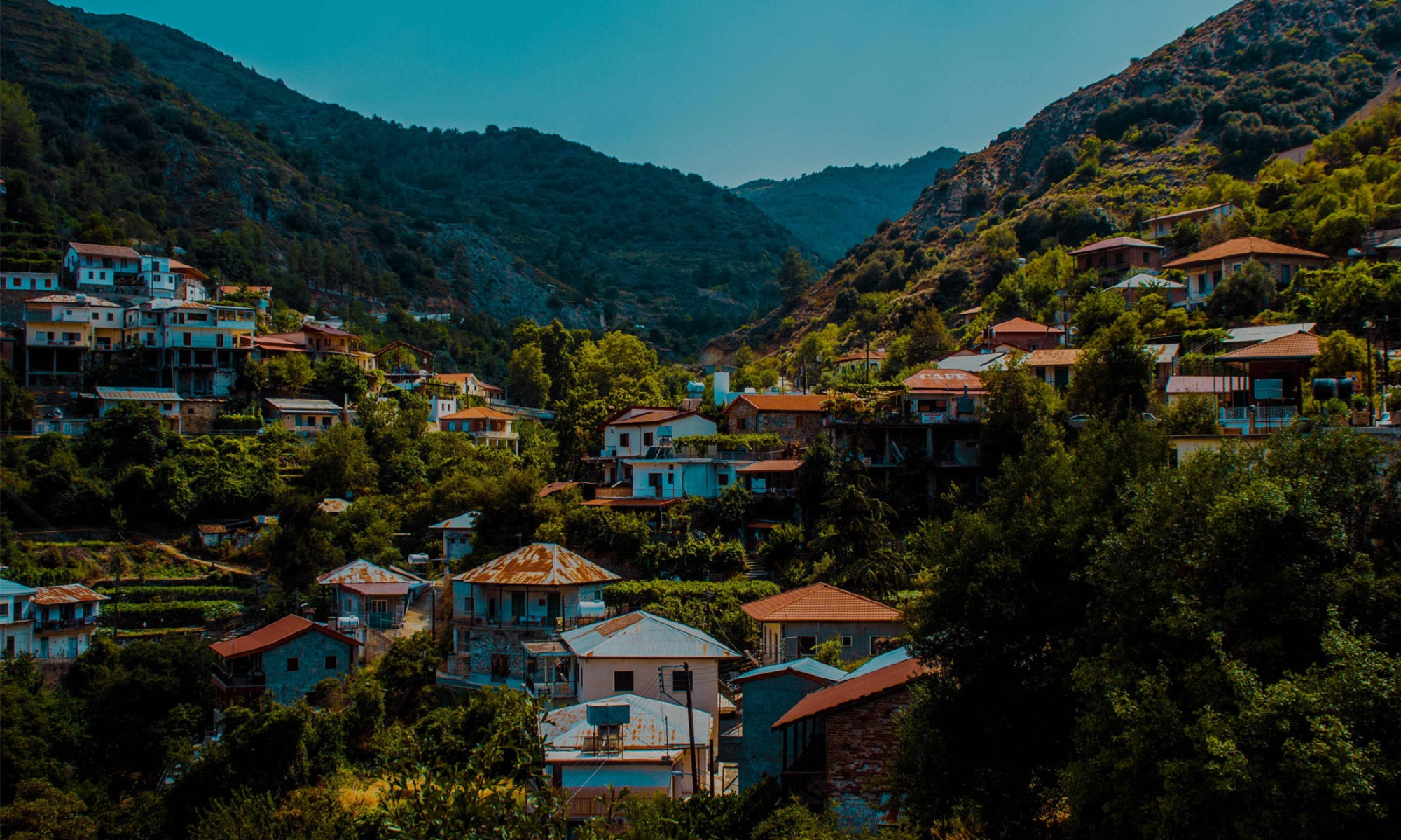 Mountain village on Cyprus.