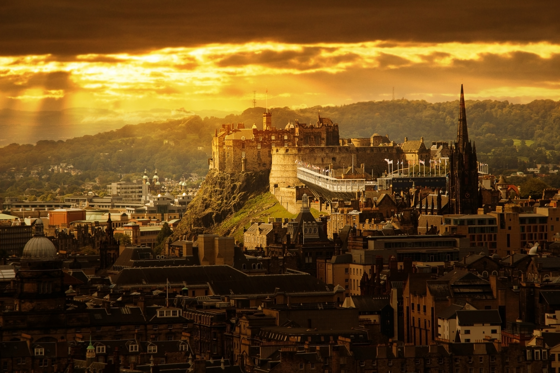 Panorama of Edinburgh.