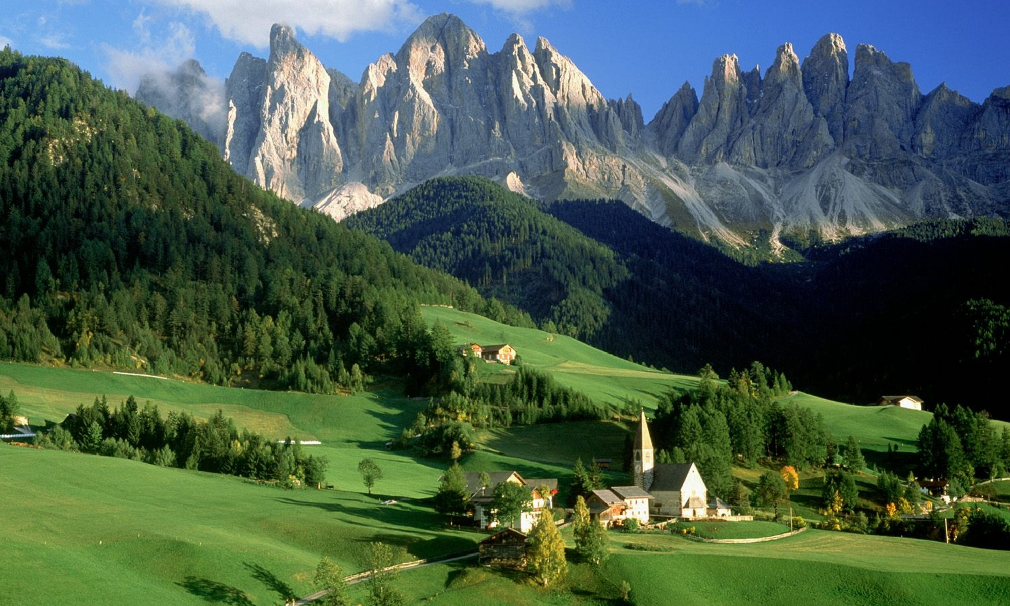 Mountain village in Alps.