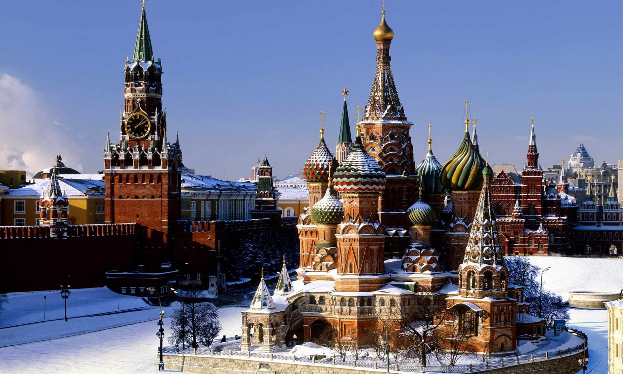 Moscow Kremlin in winter.
